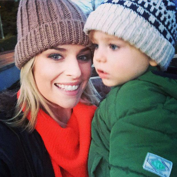 Pippa O'Connor, pictured here with son Ollie, says she'll miss her mum over Christmas