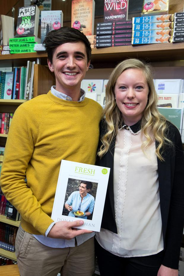 Donal Skehan and his wife Sophie at a signing for his new book Fresh