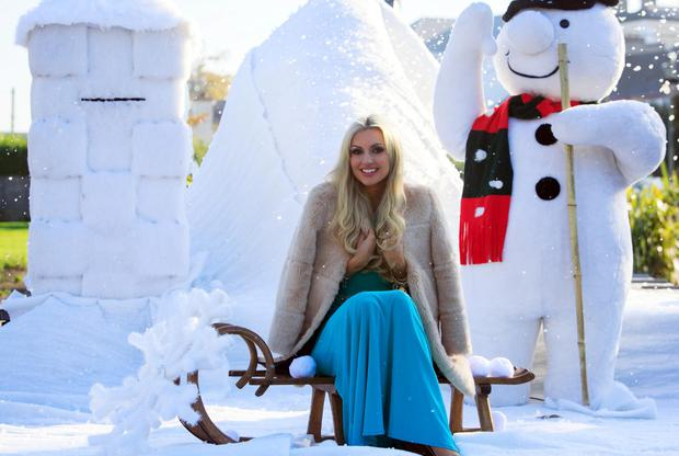 Rosanna Davison let her festive spirit soar as she conjured up a snow-filled Winter Wonderland at the announcement of details for the Christmas Kingdom in Malahide