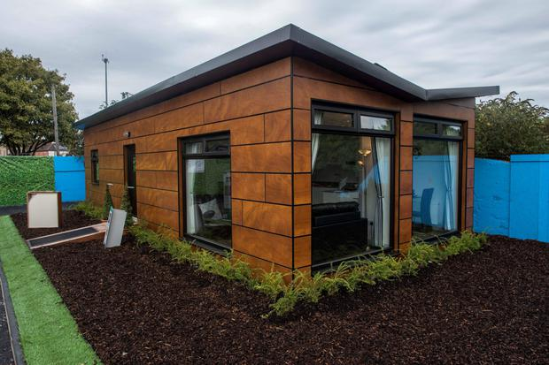 Modular homes, like this one, are due to be in place for Christmas
