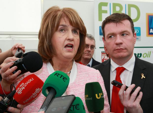 Joan Burton and Alan Kelly