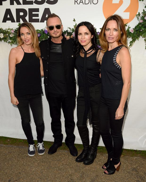 The Corrs (left to right) Caroline, Jim, Andrea and Sharon are back on stage together