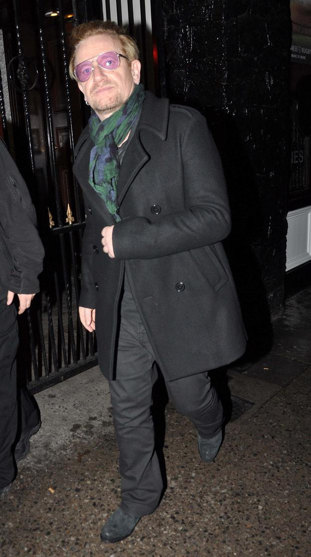 U2 members held their afterparty last night in O'Donoghue's pub on Merrion Row after the second night of their four sell out show at the 3Arena