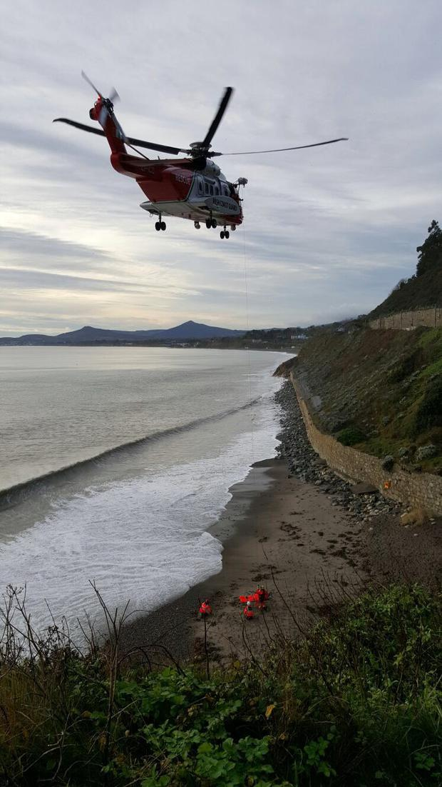 The Coast Guard rescue at Killiney beach
