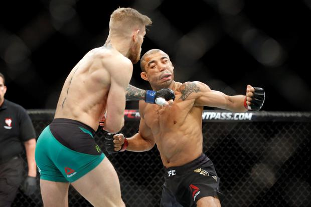 The Conor McGregor punch that felled Jose Aldoin in Las Vegas