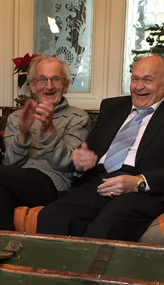 Jimmy and Frederick O'Donnell enjoy their first Christmas together