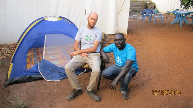 Aid worker Chris McElhinney