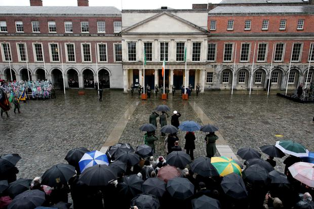 The ceremony at Dublin Castle was attended by President Michael D Higgins and other dignitaries