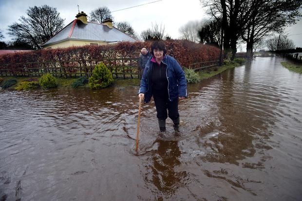 Nora O'Hara outside her house in Co Galway