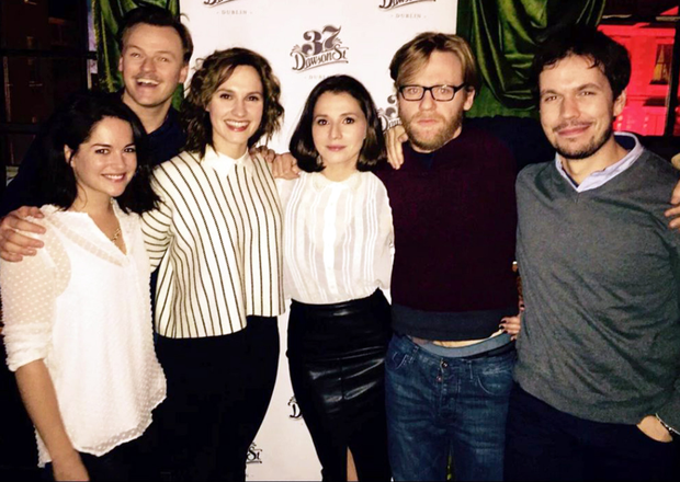 The cast of Rebellion got together to watch the airing of the first episode in 37 Dawson Street on Sunday