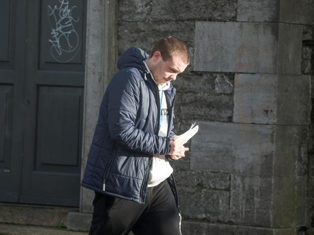 Mark Blake (21) pushed into the Irish Rail inspector