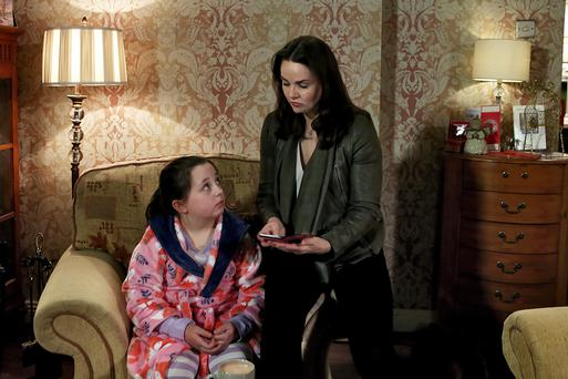 Ellie (Susie Power) is drugged my mum Heather (Una Kavanagh) in the storyline