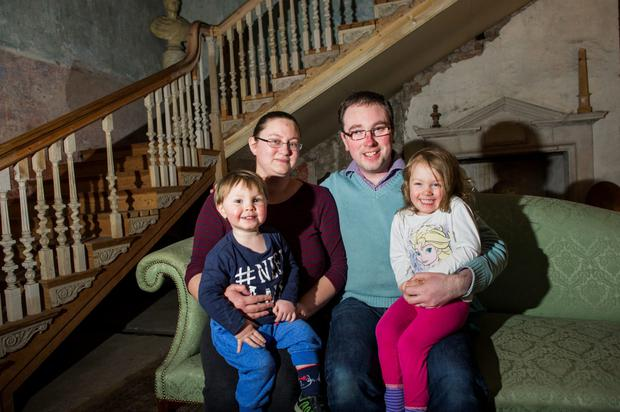Aoife and Edward Casey with their children Alexander and Claire (doug.ie)