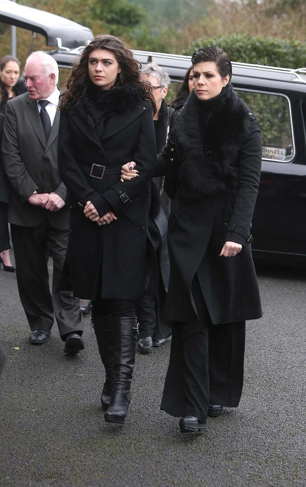 At the funeral of Billy Quinn were his son Niall's daughter Aisling and wife Gillian (Damien Eagers)