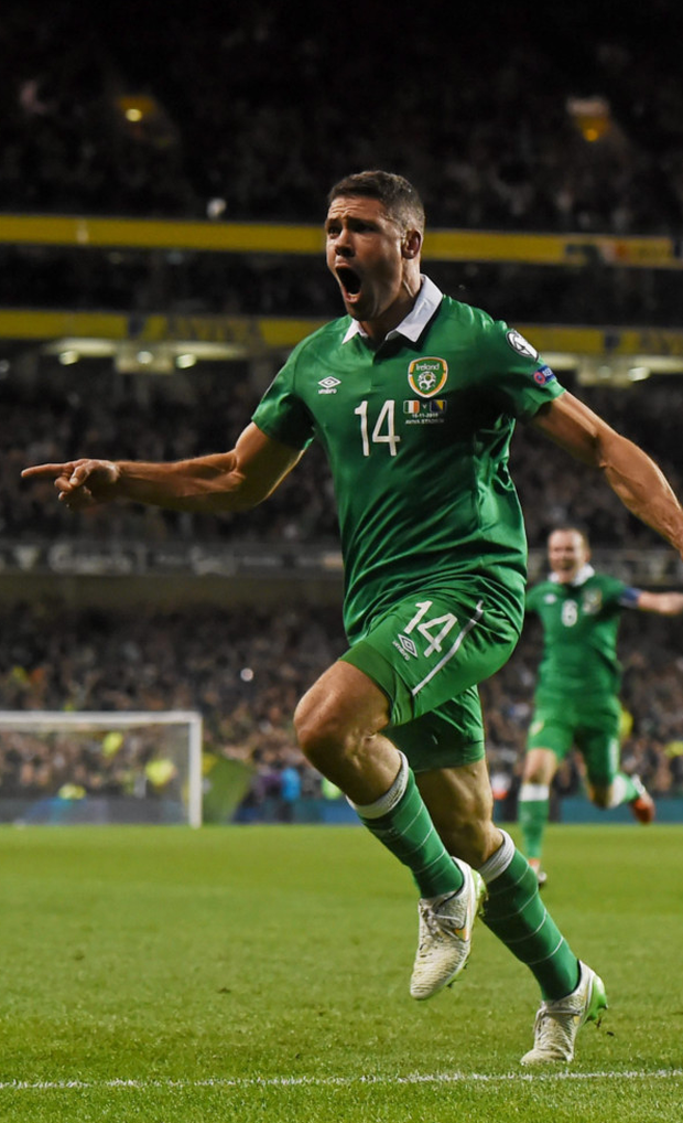 Jonathan Walters celebrates Ireland's qualification (Photo: SPORTSFILE)