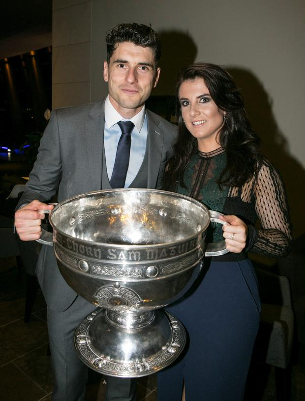Bernard, Kiera and the Sam Maguire (Photo: Kyran O'Brien)