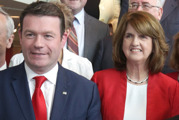 Labour deputy leader Alan Kelly and Tanaiste Joan Burton (INM)