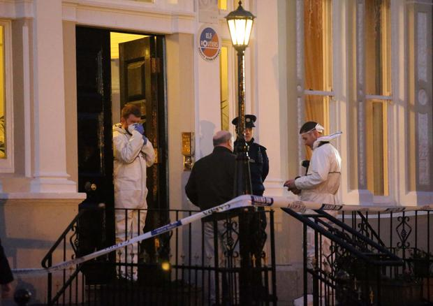 Gardai at the scene of the shooting at the Regency Hotel (Collins)