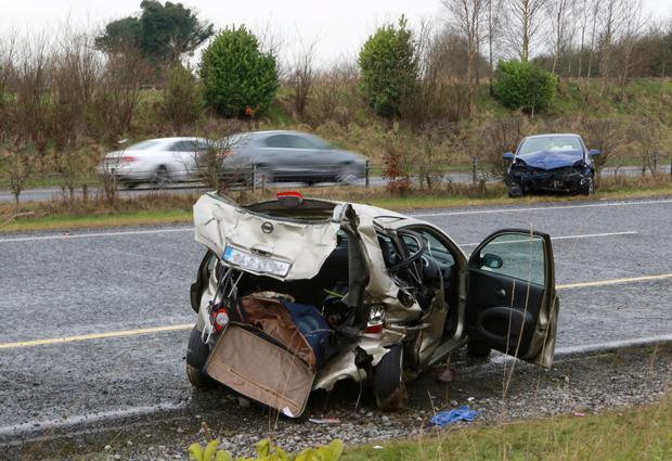 The scene of the crash near Kinnegad where Jacqueline Wolohan died