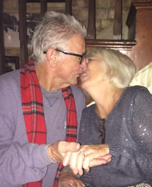 Peter and Margaret share a kiss after their engagement