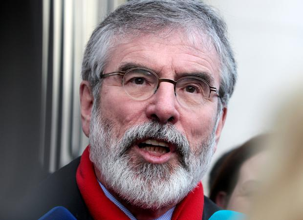 Sinn Fein's Gerry Adams accused the Coalition of resorted to scare tactics