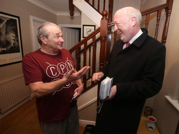 Mr Keating with constituent George Gregory