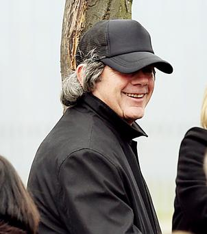 Gerry 'The Monk' Hutch at the funeral of his brother Eddie Hutch Snr.