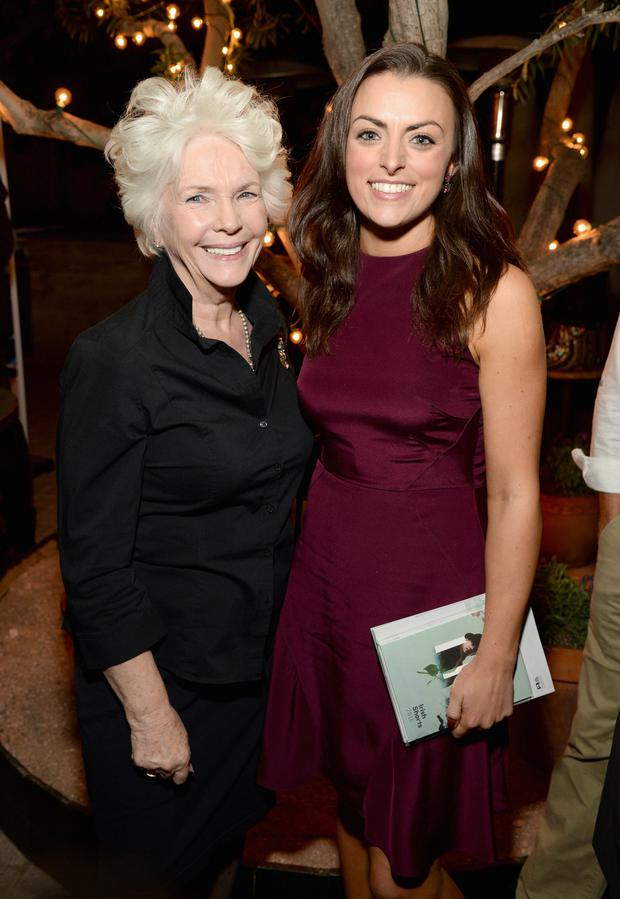 Actresses Fionnula Flanagan and Nora-Jane Noone attend The Irish Film Board and IDA celebrating the success of Irish cinema at Laurel Hardware on February 24, 2016 in West Hollywood, California