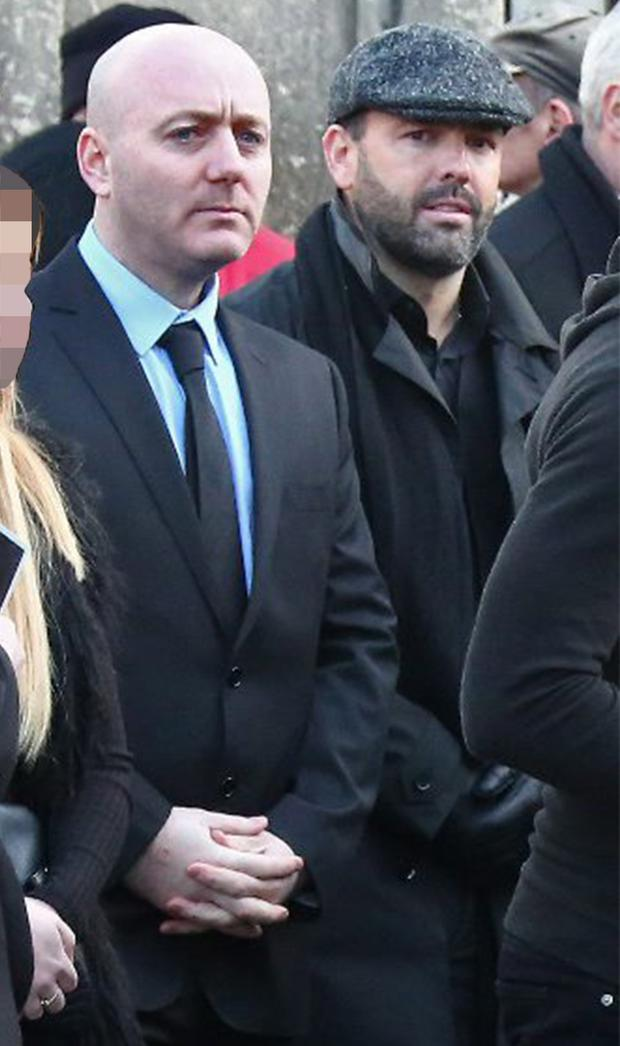 Freddie Thompson and Daniel Kinahan attending the funeral of Regency Hotel murder victim David Byrne
