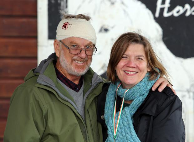 John Bottrell and Dorris Gerth enjoying the week end at the 10th Fr. Ted fest on Inis Mór island, Co. Galway.
