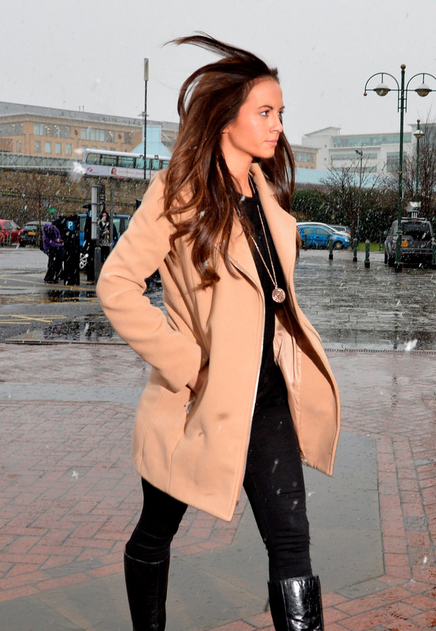 Stacey Flounders arrives at court (PA)