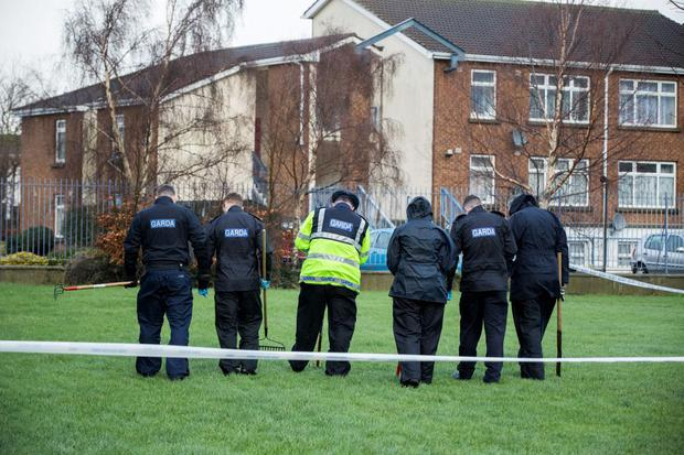 Gardai who have sealed off an area of Ashgrove estate in Tallaght.
