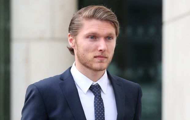 Republic of Ireland and Derby County star Jeff Hendrick outside Dublin District Court (Collins)