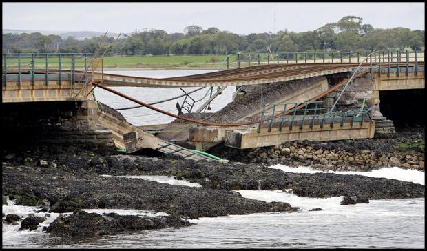 The Malahide viaduct collapse (INM)