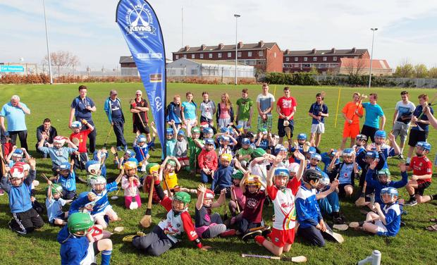 Young members of St Kevin's Hurling and Camogie club are campaigning for a new pitch (Eoghan Redmond)