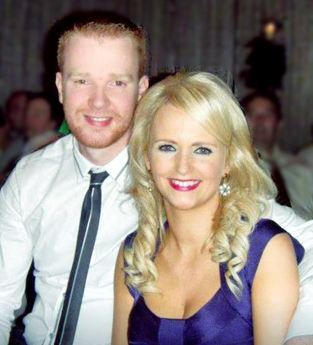 Garda Brian Hanrahan, pictured with his wife Emma