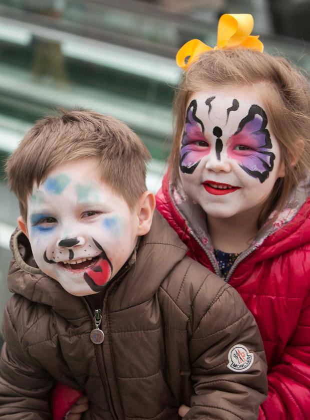 (L to R) Brayden McElroy (4) & Addison McElroy (3) both from Dolphins Barn. Photo@ Gareth Chaney Collins