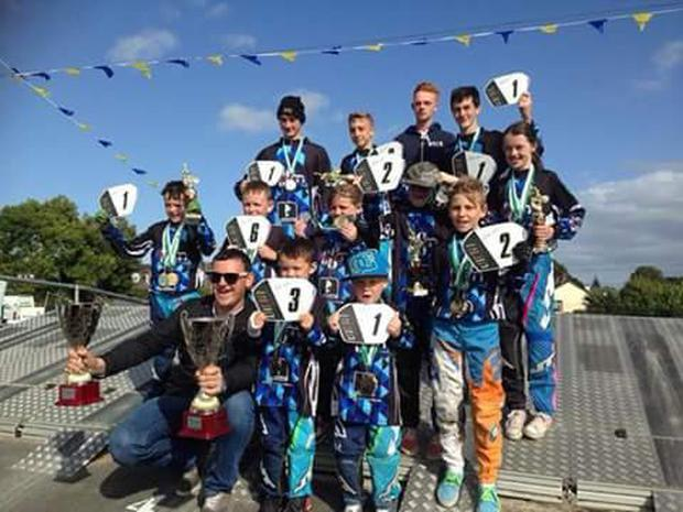 Members of the Dublin County BMX Club