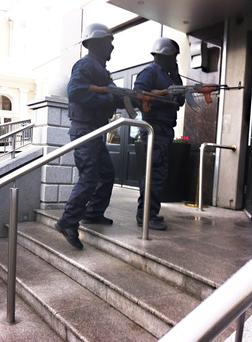 Gunmen armed with AK-47s storm the Regency Hotel (INM)