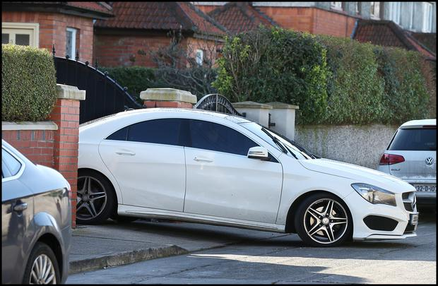 One of the cars taken from the home of Liam Byrne