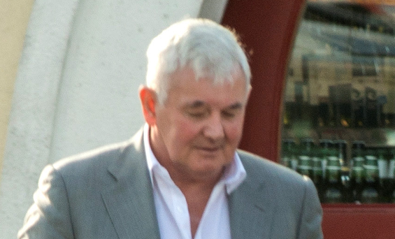 John Gilligan pictured after drinks with friends and family in Dublin earlier this week