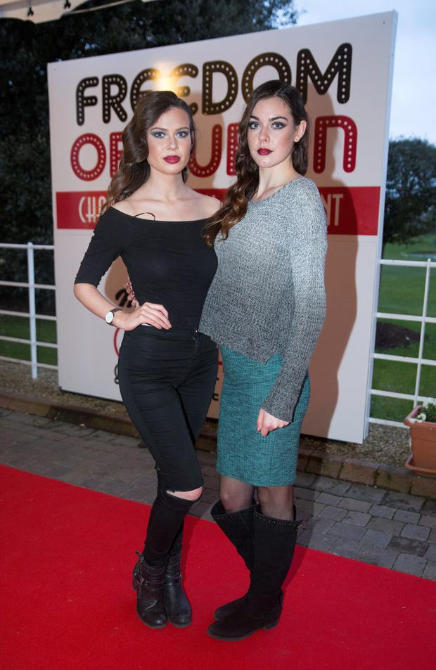 Fionnuala Short and Matylda Odachowska, Assets at the Freedom of Dublin Charity Fashion Show in Citywest Hotel in Dublin. Picture: Arthur Carron