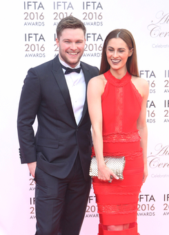 Model Madeline Mulqueen and actor fiance Jack Reynor (Collins Dublin)