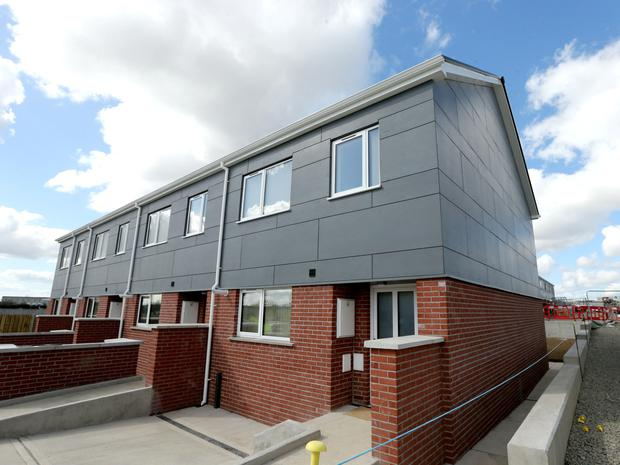 New modular homes recently constructed in Ballymun