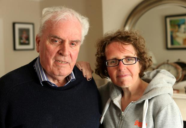 Ciaran and Karen Bishop called for more to be done to support the victims of crime. Photo: Gerry Mooney.