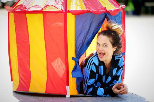 Havin' a laugh at the line up announcement of the Vodafone Comedy Tent at Body&Soul was Joanne McNally. Pic: Marc O'Sullivan