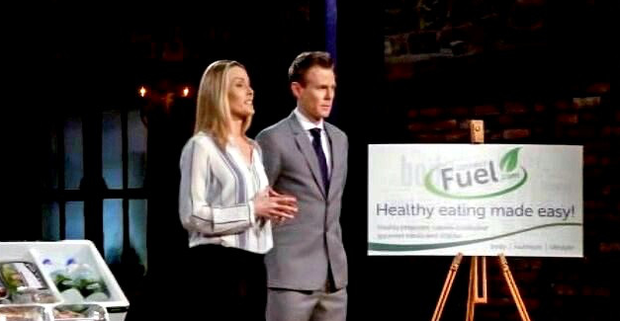 Emma Buckley and her brother Robert promoting Gourmet Fuel on Dragon's Den