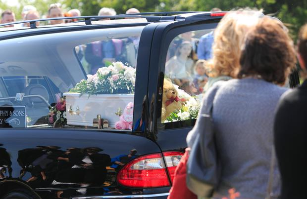 The coffin of baby Alannah Photo: Gareth Chaney Collins