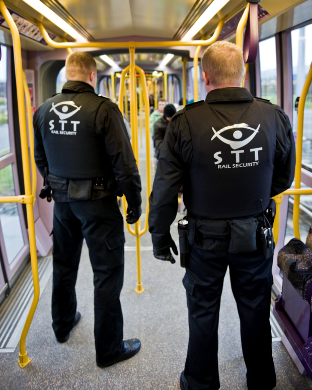 Security guards on Luas trams have been attacked, spat at and verbally abused. Photo: doug.ie