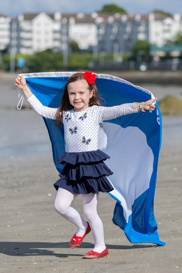 Celebrating Seapoint's Blue Flag was Caoimhe Culhane